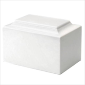 Alpine White Synthetic Marble Urn