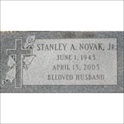 Grey Granite Flat Marker