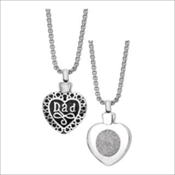 Dad Heart Pendant (Urn) - Simply Remembered Collection