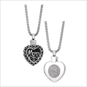 Mom Heart Pendant (Urn) - Simply Remembered Collection