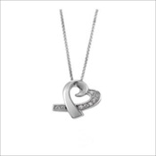 Jewel Heart Pendant (Urn) - Simply Remembered Collection