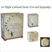 In Flight Cultured Stone Urn & Keepsakes