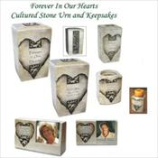 Forever In Our Hearts Cultured Stone Urn & Keepsakes