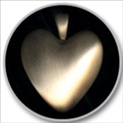 Heart - Bronze or White Bronze