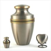 Grecian Pewter Urns