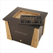 Chest Urn with Tree Inlay