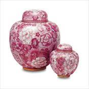 Magnolia Pink Cloisonne' Urn
