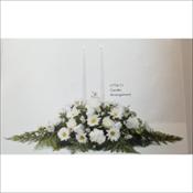 White Candle Arrangement