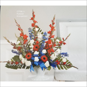 Red White and Blue Pedestal Arrangement