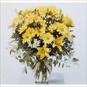Yellow Vase Arrangement