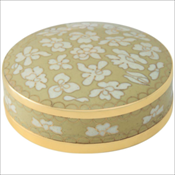 Ivory Pearl Cloisonne Miniature Keepsake Urn