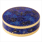 Blue Butterfly Cloisonne Miniature Keepsake Urn