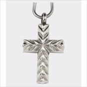 Cross Stainless Steel Silver Finish Pendant (Urn)