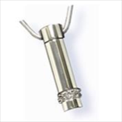 Cylinder Stainless Steel Silver Finish Pendant (Urn)