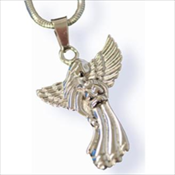 Guardian Angel Stainless Steel Silver Finish Pendant (Urn)
