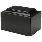 Charcoal Black Synthetic Marble Urn