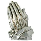 Praying Hands - Silver Finish