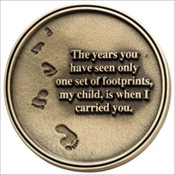 Footprints Medallion