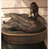 Cast Duck at Rest