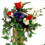 Patriotic Rosebud