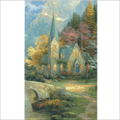 Thomas Kinkade - Chapel in the Woods (660)