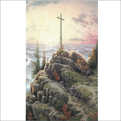 Thomas Kinkade - Cross on the Mountain (685)