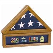 Flag Case w/Medal Display Case