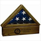 Premium Wood Flag Case Urn