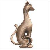 Cat or Dog Bronzetone Applique