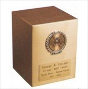 Sheet Bronze Cube with Any Armed Force Wreath