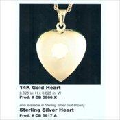 Keepsake Heart Pendants
