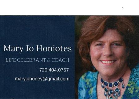Mary Jo Honiotes - Life Celebrant & Coach
