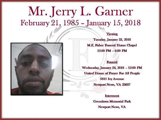 Mr  Jerry Garner Obituary - Visitation & Funeral Information