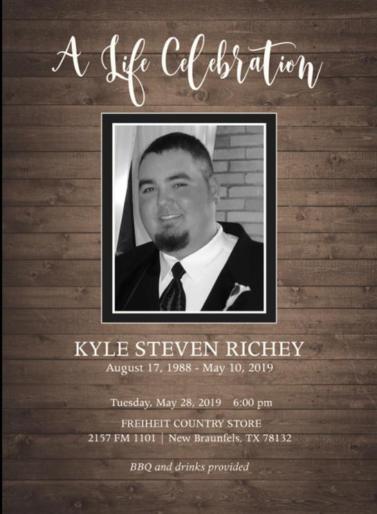 Kyle Steven Richey Obituary - Visitation & Funeral Information