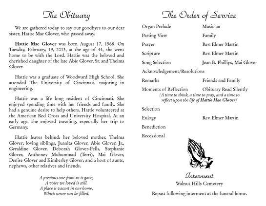 Hattie Glover Obituary - Visitation & Funeral Information